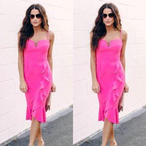 Do+Be Pink Sheath Ruffle Dress
